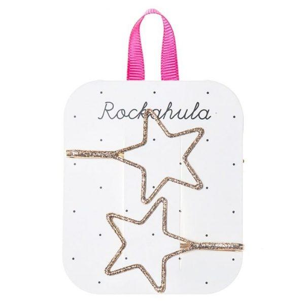 Rockahula Kids - wsuwki do włosów Starry Cut out Glitter Gold