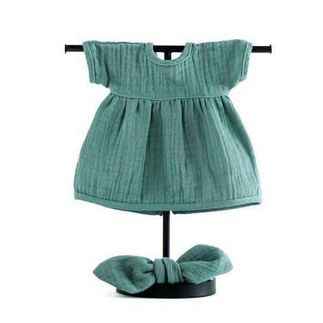 MINILAND Komplet: Sukienka i Opaska Pin Up Frosty Green ROZMIAR 38