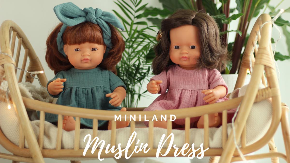 MINILAND Komplet Sukienka i Opaska Pin Up Frosty Green ROZMIAR 38