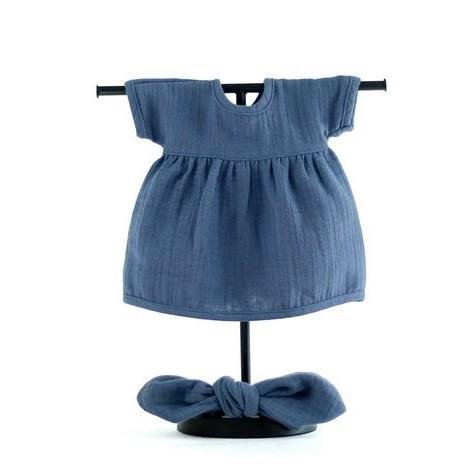 MINILAND Komplet Sukienka i Opaska Pin Up Navy Blue ROZMIAR 38