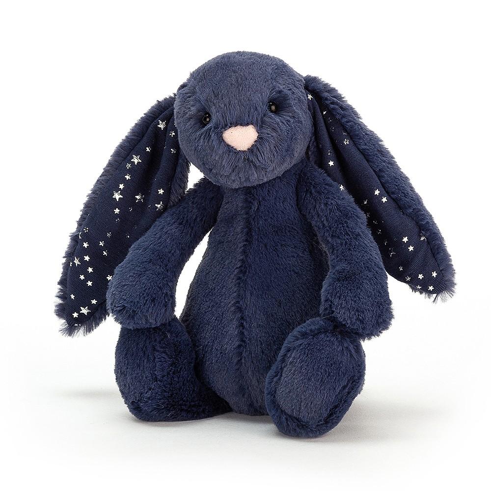 JELLYCAT przytulanka królik 18 cm granatowy w gwiazdki