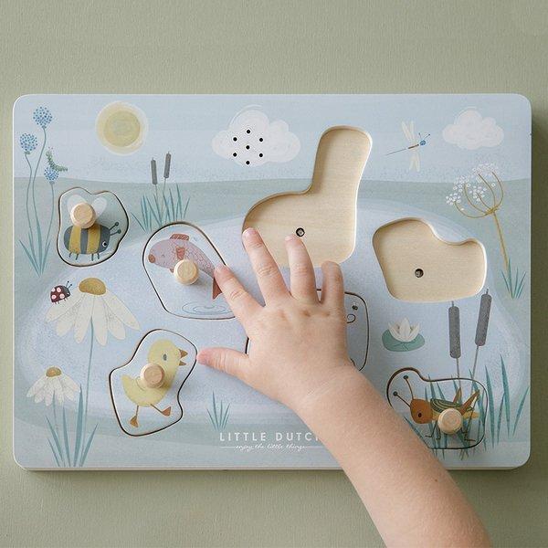 LITTLE DUTCH Puzzle dźwiękowe Little Goose