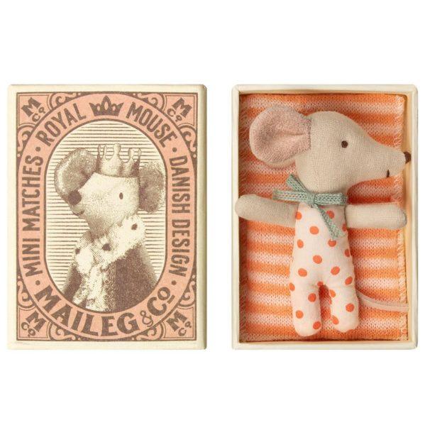 MAILEG myszka dziewczynka Baby Sleepy wakey w pudełeczku