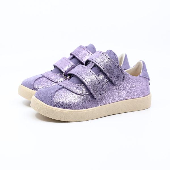 MRUGAŁA półbuty HANA lavender brokat