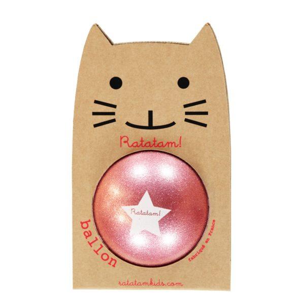 Ratatam - Piłka z brokatem Glitter Pink 15cm
