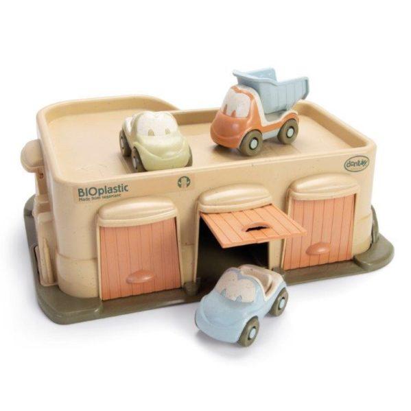 Zabawka BIOplastic garaż z 3 autami Dantoy