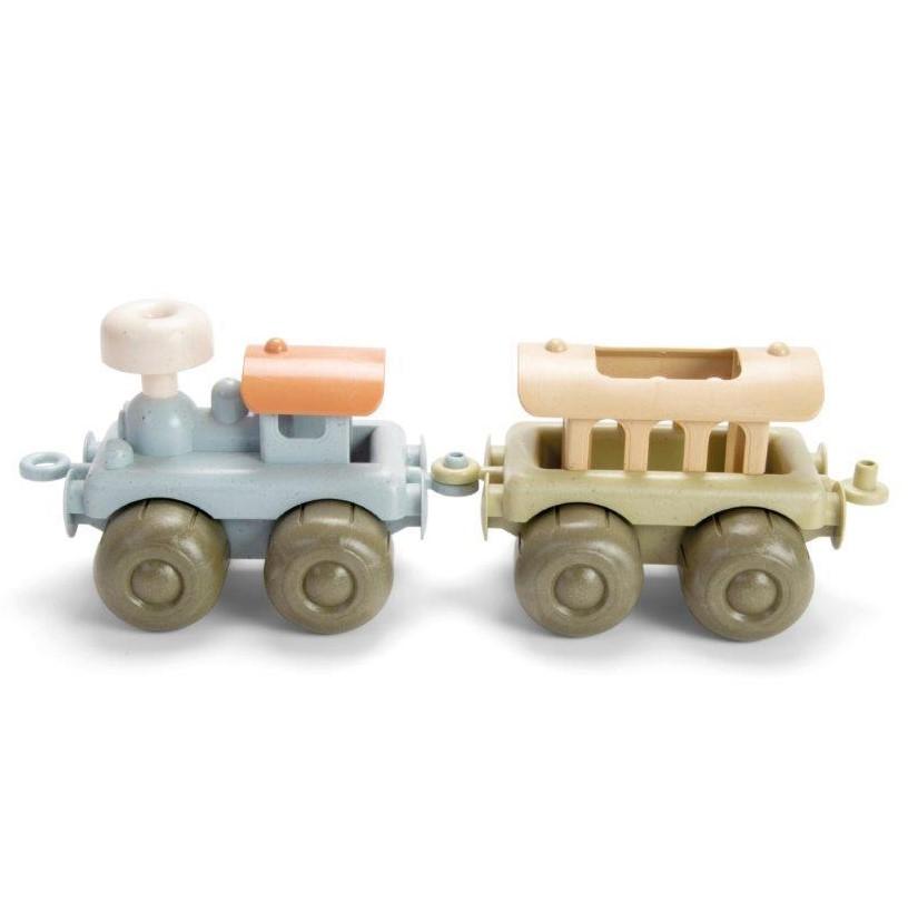 Zabawka BIOplastic zestaw lokomotywa z wagonem 2 szt Dantoy (1)