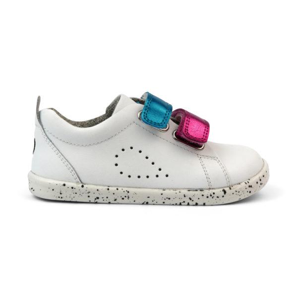 BOBUX I Walk Grass Court Switch White z wymiennymi rzepami - buty dziecięce 23-26