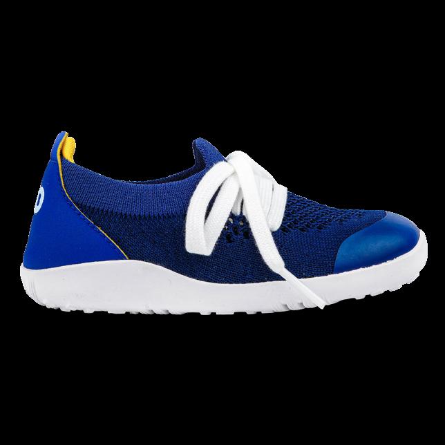 BOBUX I Walk Play Knit Blueberry + Yellow buty dziecięce 23-26