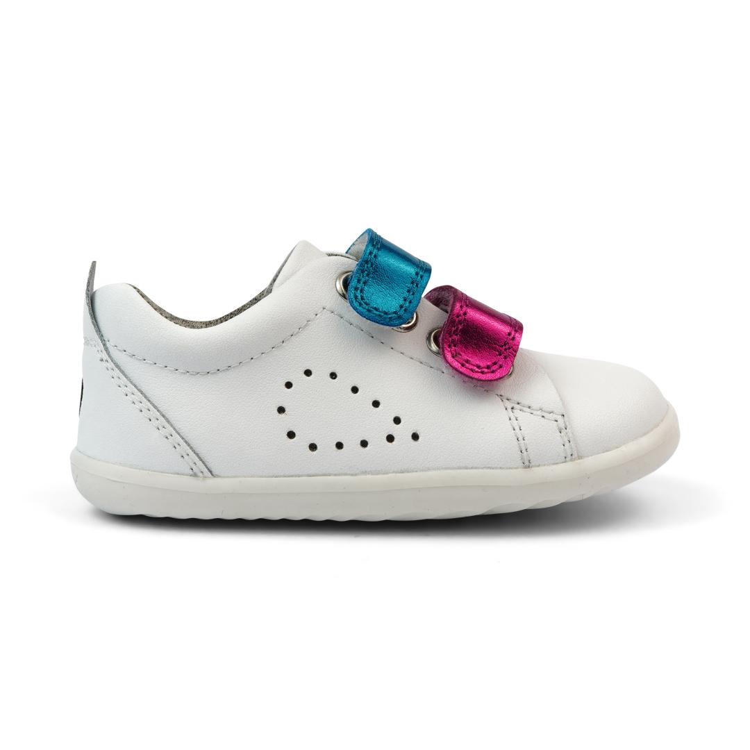 BOBUX Step Up Grass Court Switch White wymiennymi rzepami - buty dziecięce 20-22