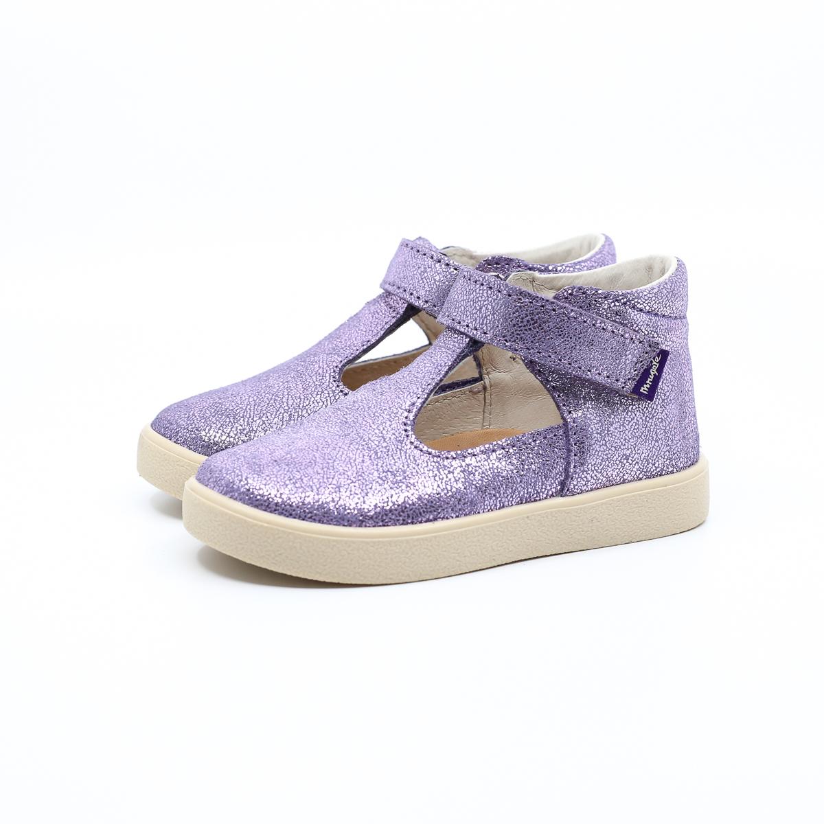 MRUGAŁA baleriny dziecięce NINA lavender brokat 20-25