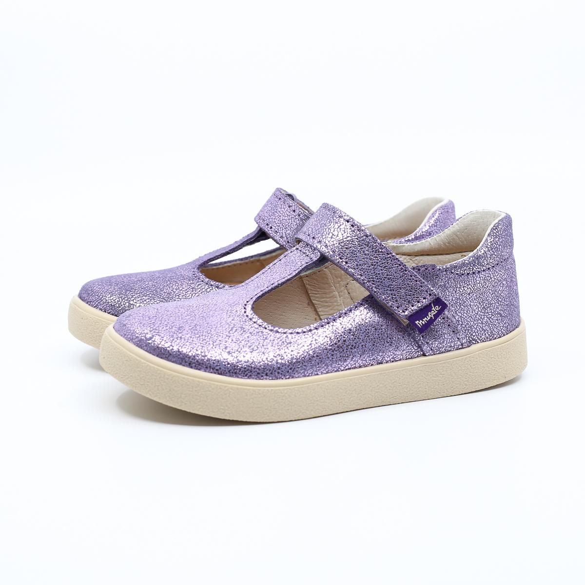 MRUGAŁA baleriny dziecięce NINA lavender brokat 26-30