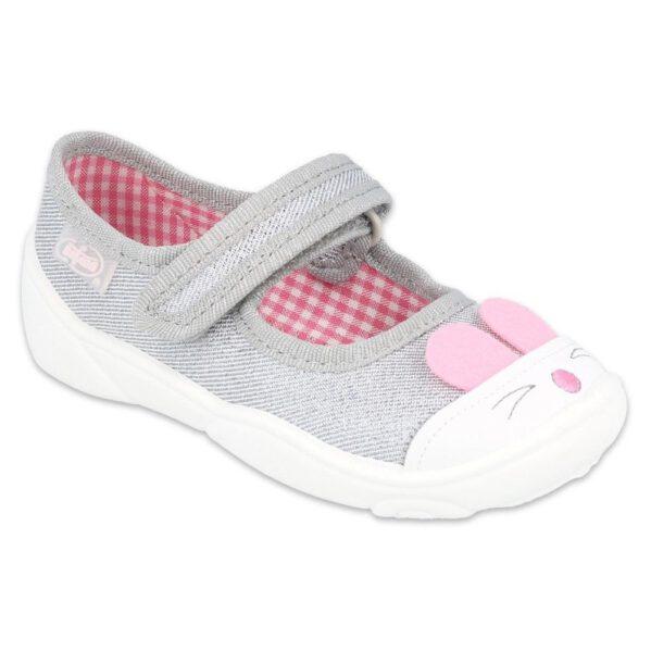 Lekkie, zapinane na rzep balerinki Maxi z uroczymi zwierzątkami, które wskoczyły na noski bucików.Elastyczne podeszwygwarantuje dziecku odpowiednie zginanie stopy podczas dziecięcych aktywności. Buciki, które mogą służyć jako buty zamienne, można nosić także na zewnątrz w wiosenne, ciepłe dni.