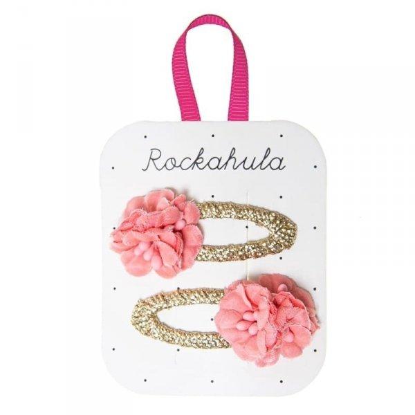 ROCKAHULA Kids spinki do włosów Blossom Przepiękny ręcznie wykonane spinki do włosów z uroczym kwiatuszkiem. Wszystko z rypsową wstążką zakrywającą klips pod spodem dla idealnego dopasowania.