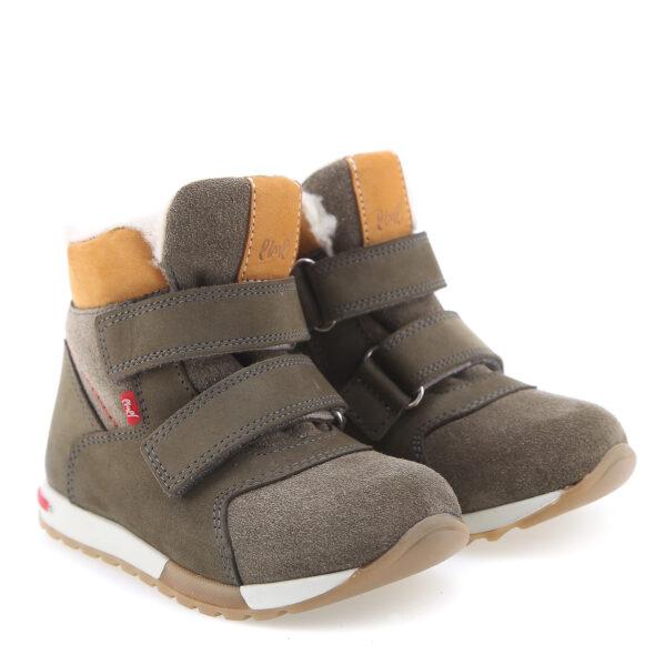 EMEL zimowe buty dziecięce z membraną WATERPROOF i wełną naturalną EV 2721