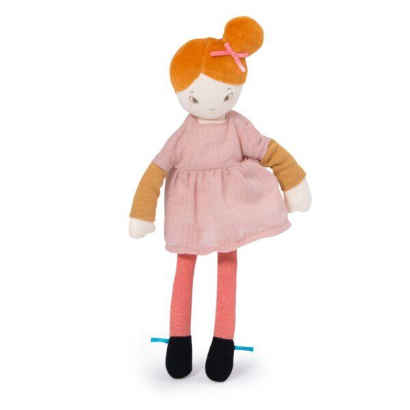 Lalka Mademoiselle Agathe Les Parisiennes. Mademoiselle Agathe prezentuje swój nowy wygląd, kolorowy i szykowny. Zawsze dobrze ubrana i uczesana w kok, będzie miłą towarzyszką zabaw dziecięcych.