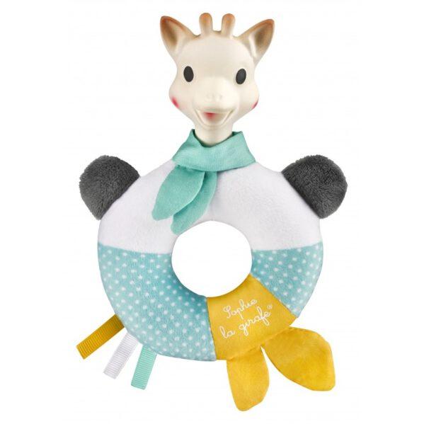 Przytulna gryzako-grzechotka 2 w 1 nadaje się świetnie do uspokajania i rozrywki dziecka! Idealne połącznie materiału z naturalnym kauczukiem! Miękki i lekki gryzak jest łatwy do schwytania.